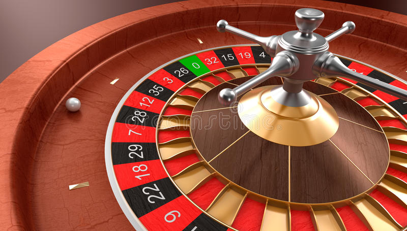 Casino roulette. 3D image render vector illustration