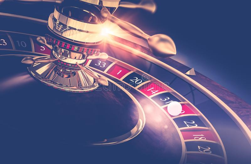 Casino Roulette Game. Casino Gambling Concept 3D Render Illustration. The Wheel of Fortune vector illustration