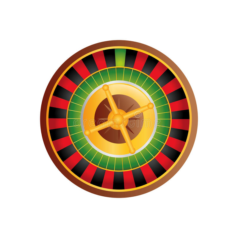 Casino Roulette game. Icon illustration graphic design royalty free illustration
