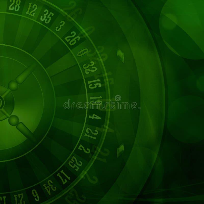 Casino roulette green background. Illustration vector illustration
