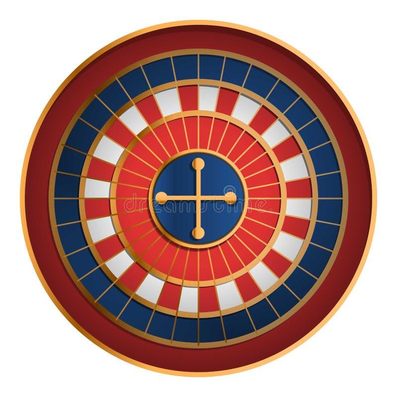 Casino roulette icon, cartoon style. Casino roulette icon. Cartoon of casino roulette vector icon for web design isolated on white background vector illustration