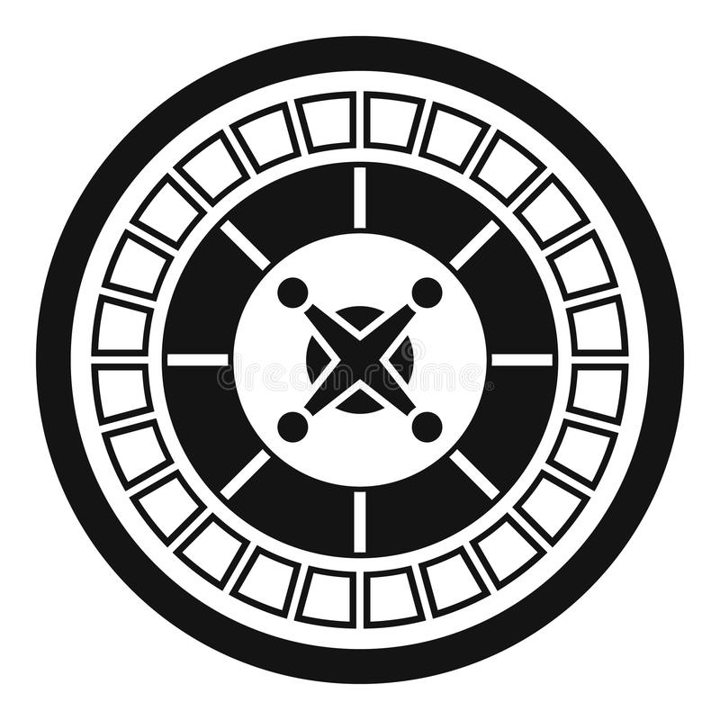 Casino roulette icon, simple style. Casino roulette icon. Simple illustration of casino roulette vector icon for web design isolated on white background vector illustration