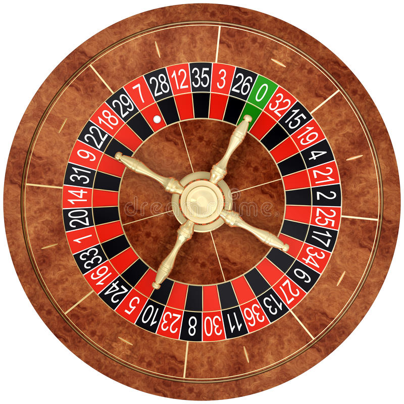 Casino roulette. Isolated on the white background royalty free illustration