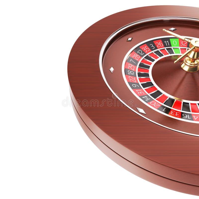 Casino roulette isolated on a white background. 3d render illustration vyskomo resolution stock illustration