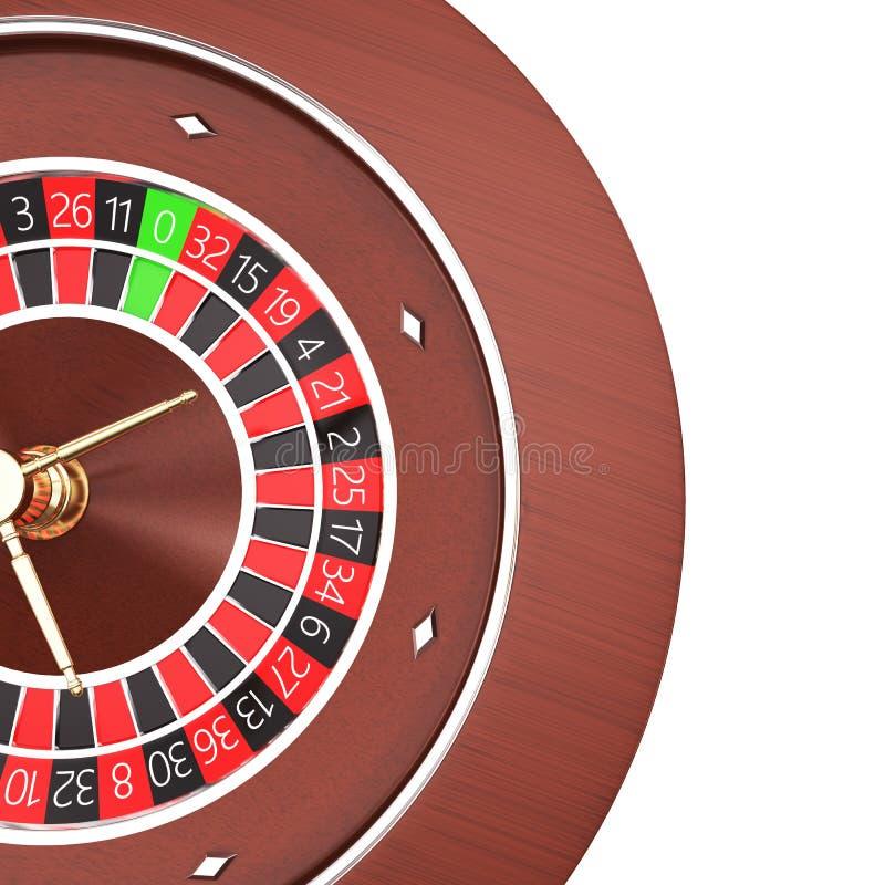 Casino roulette isolated on a white background. 3d render illustration vyskomo resolution royalty free illustration