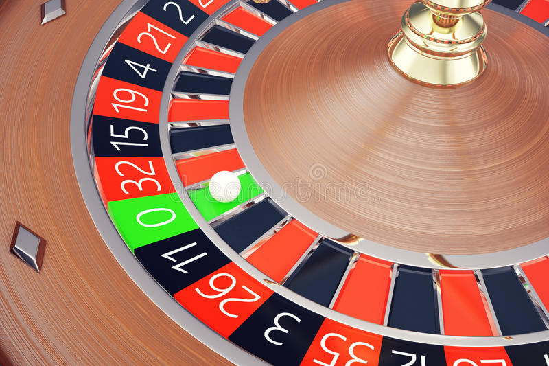 Casino Roulette Las Vegas Gambling Concept. Playing in a Casino Conceptual 3d rendering stock illustration