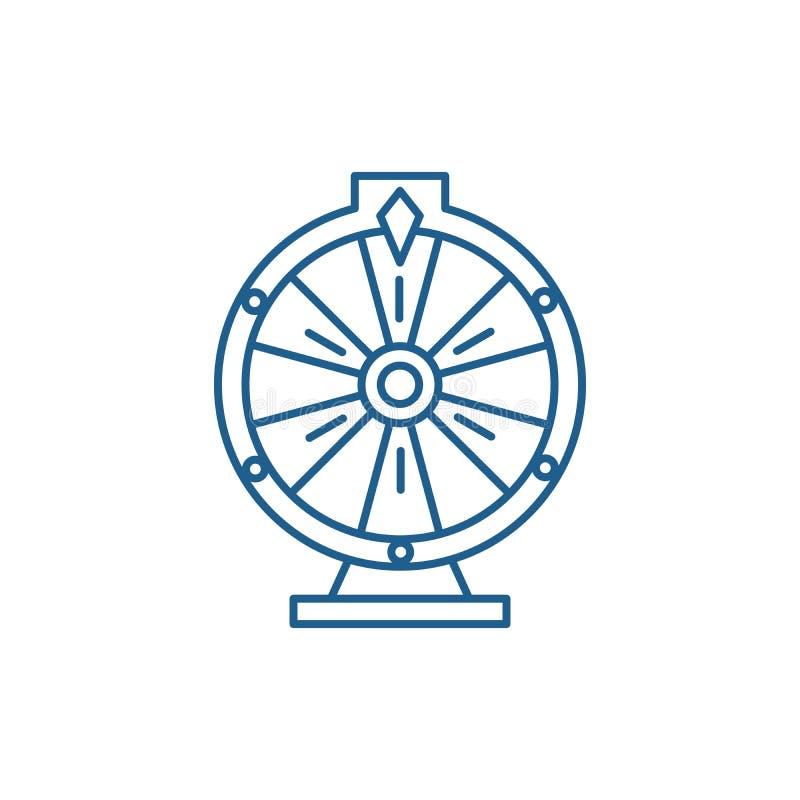 Casino roulette line icon concept. Casino roulette flat  vector symbol, sign, outline illustration. Casino roulette line concept icon. Casino roulette flat vector illustration