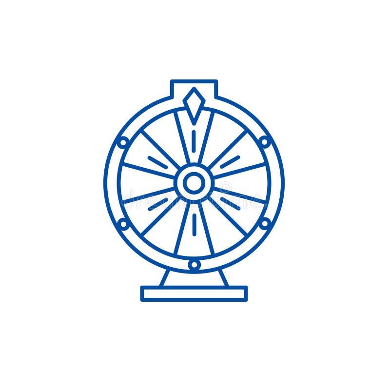 Casino roulette line icon concept. Casino roulette flat  vector symbol, sign, outline illustration. Casino roulette line concept icon. Casino roulette flat stock illustration