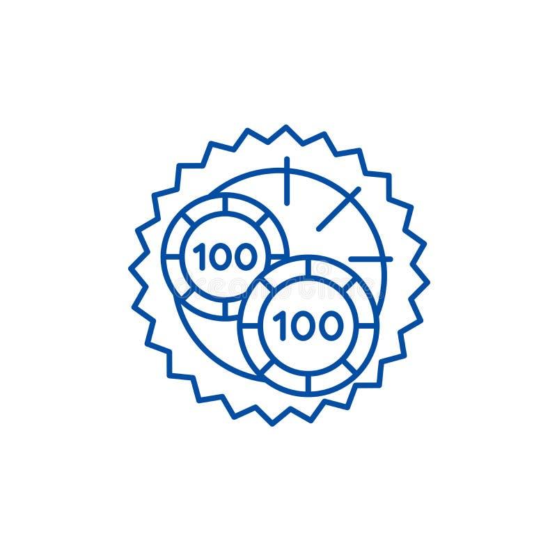 Casino roulette luck line icon concept. Casino roulette luck flat  vector symbol, sign, outline illustration. Casino roulette luck line concept icon. Casino stock illustration