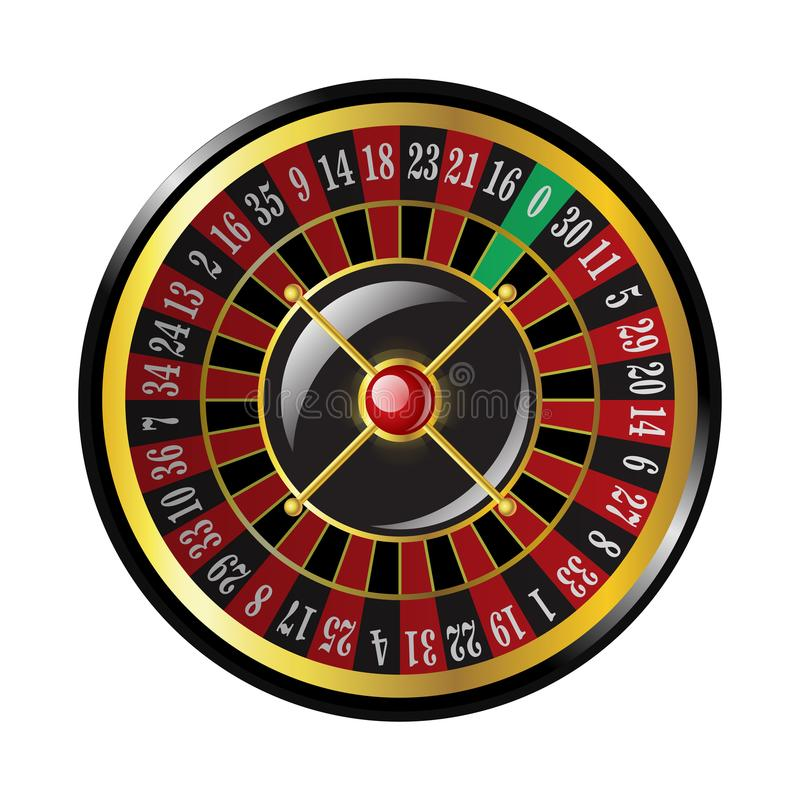 Casino roulette - modern vector isolated clip art. Illustration on white background. Gambling, luck, fortune concept. Use this high quality clip art for vector illustration