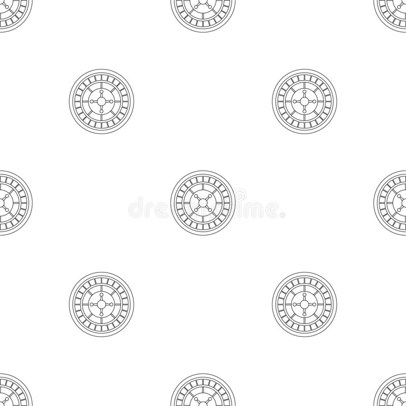 Casino roulette pattern seamless vector stock illustration
