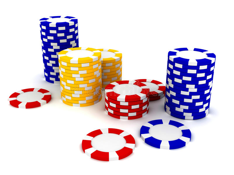 Casino Roulette's chips. 3d rendered image royalty free illustration