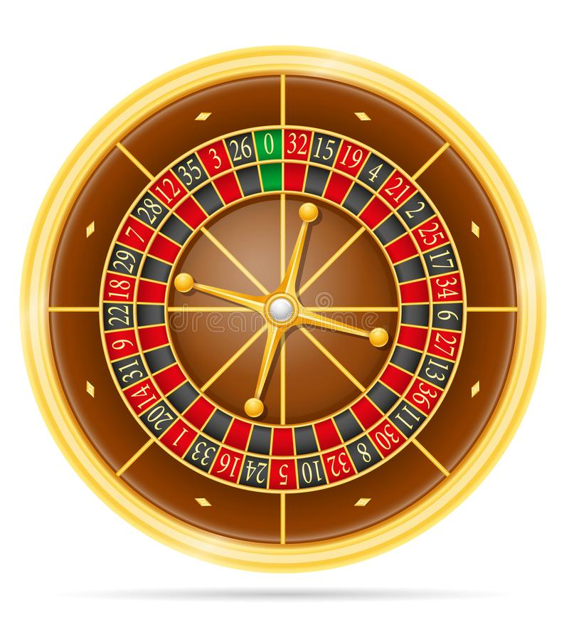 Casino roulette stock vector illustration. Isolated on white background vector illustration