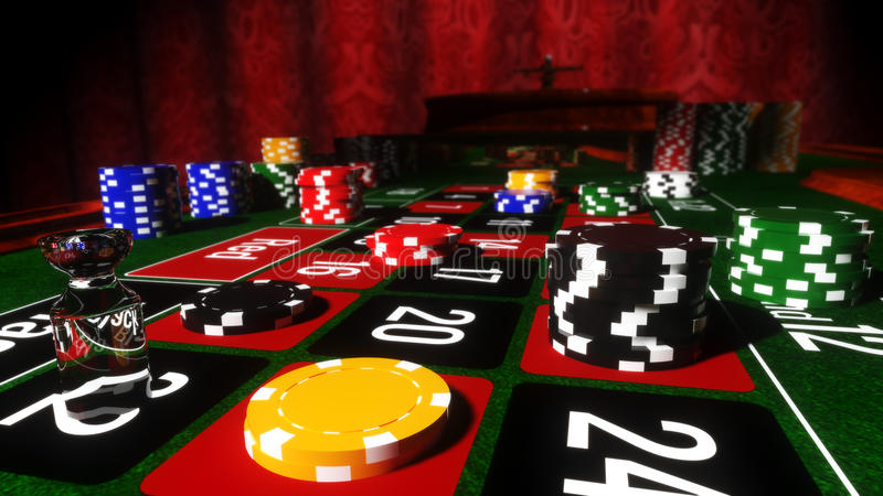 Casino Roulette Table vector illustration