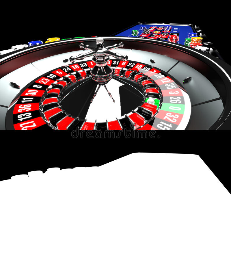 Casino Roulette Table stock illustration