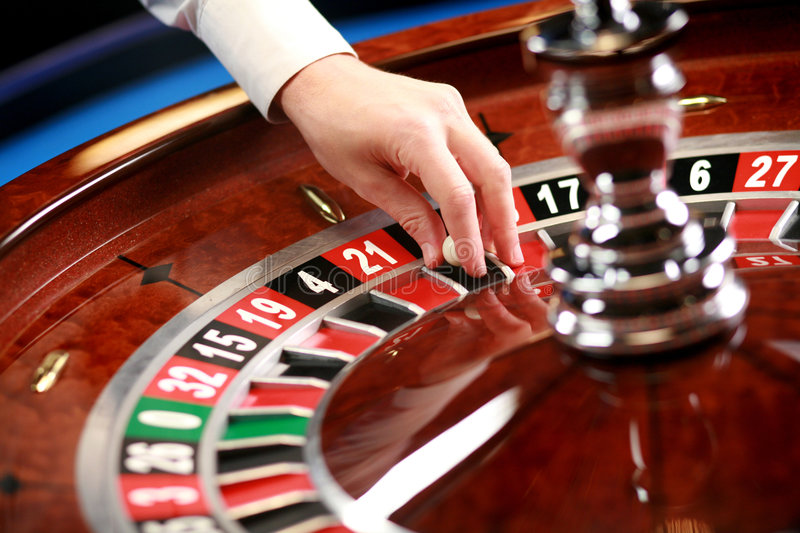 Casino roulette weel stock photography