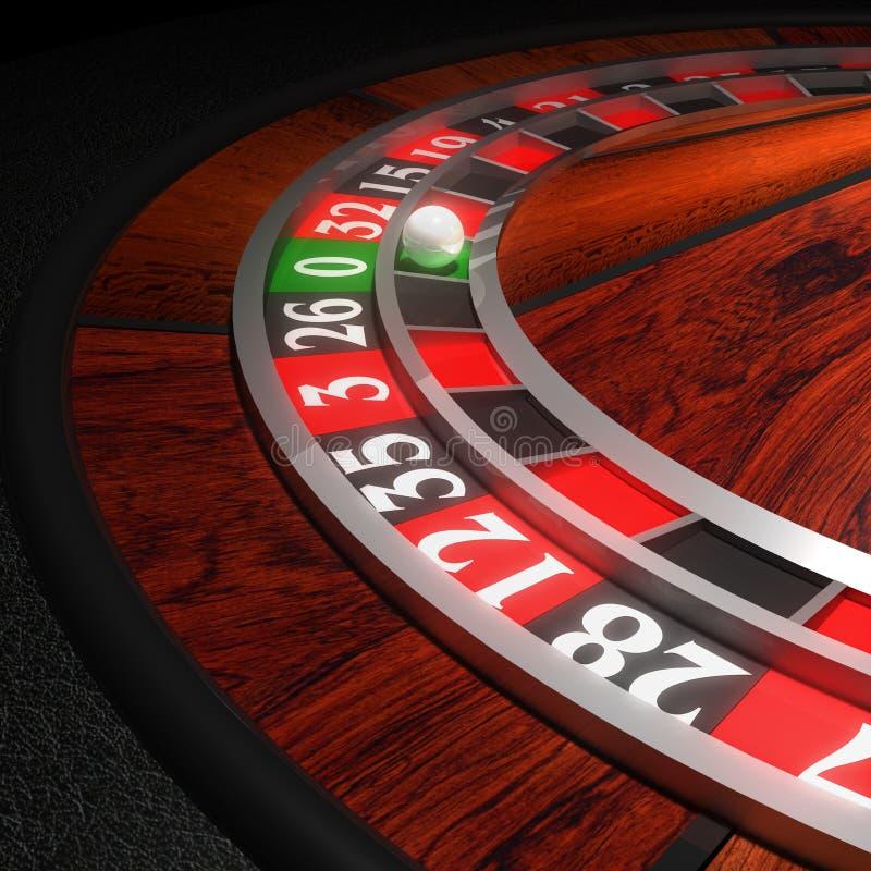 Casino Roulette Wheel. Rendered in 3D program royalty free illustration