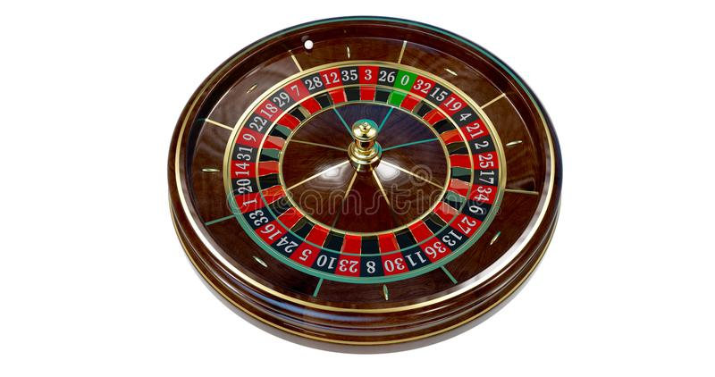 Casino roulette wheel. royalty free illustration