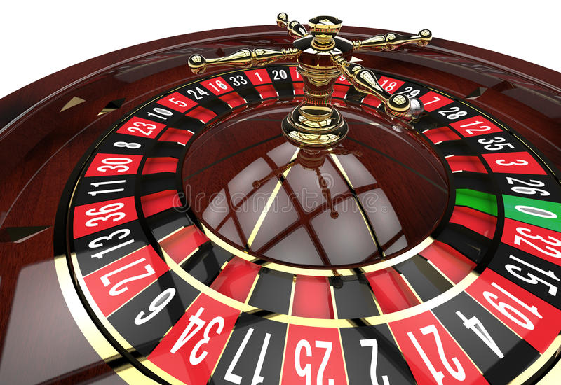 Casino roulette wheel royalty free illustration