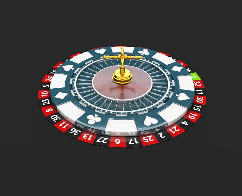 Casino roulette wheel. 3d Illustration isolated black. Casino roulette wheel, 3d Illustration isolated black vector illustration