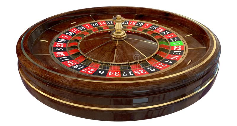 Casino roulette wheel 3D vector illustration