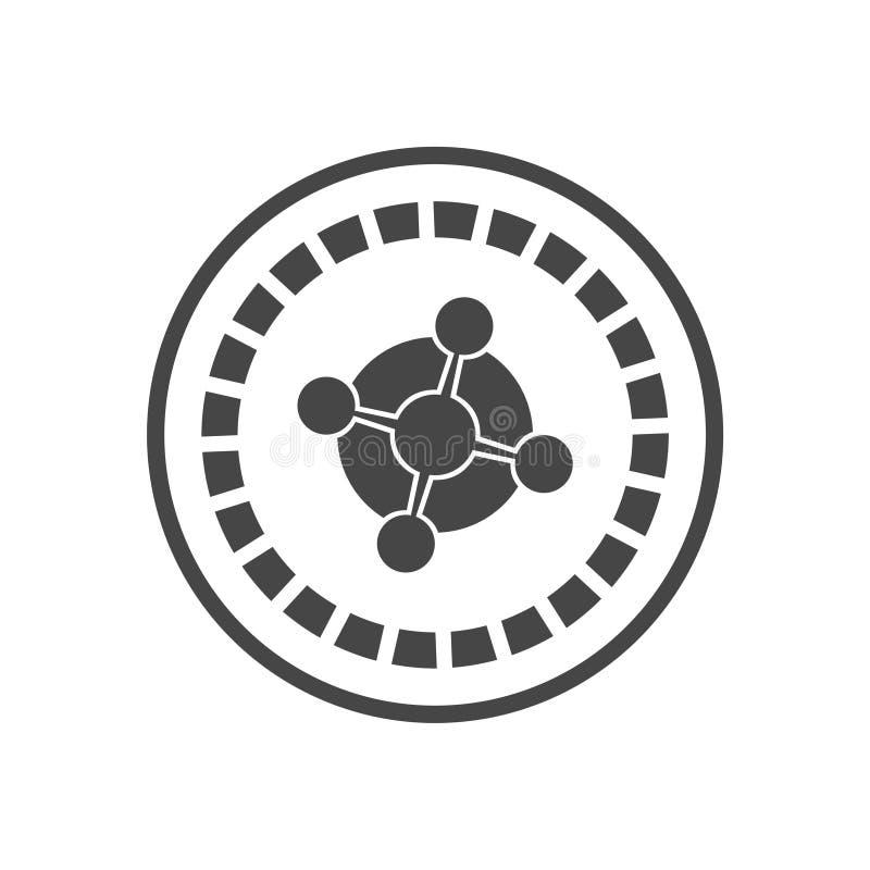 Casino roulette wheel flat icon. On white background vector illustration