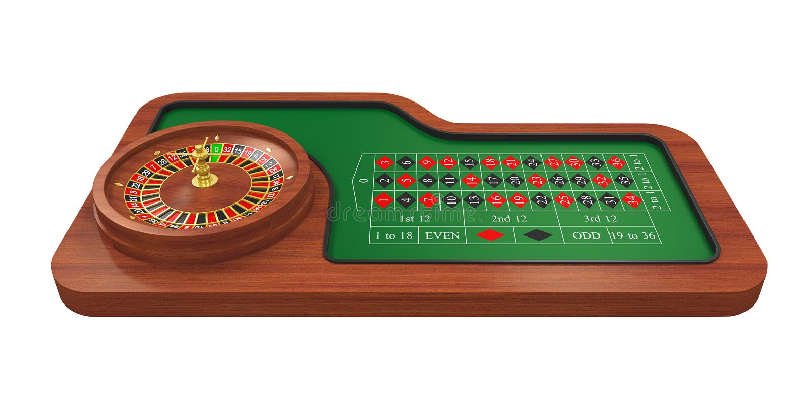 Casino Roulette Wheel Isolated vector illustration