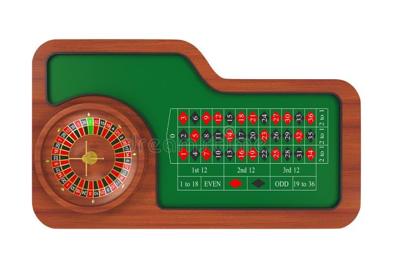 Casino Roulette Wheel Isolated. On white background. 3D render stock illustration