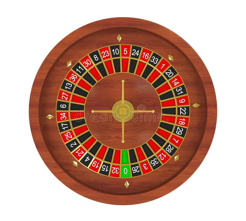 Casino Roulette Wheel Isolated royalty free illustration