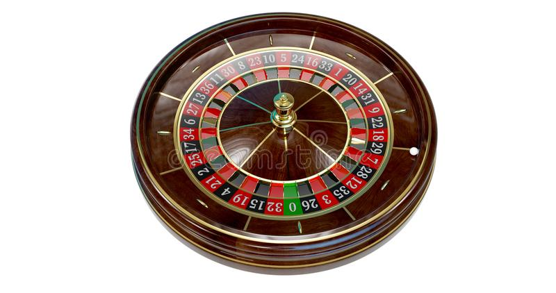 Casino roulette wheel. stock illustration
