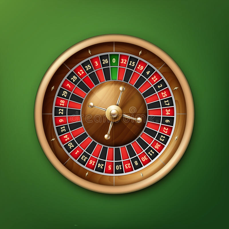 Casino roulette wheel vector illustration
