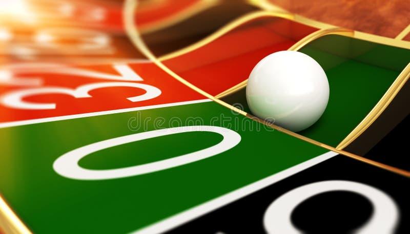 Casino roulette on zero. 3D illustration royalty free illustration