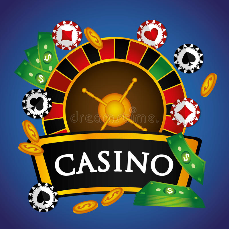 Casino royal games design. Casino royal games graphic design, vector illustration royalty free illustration