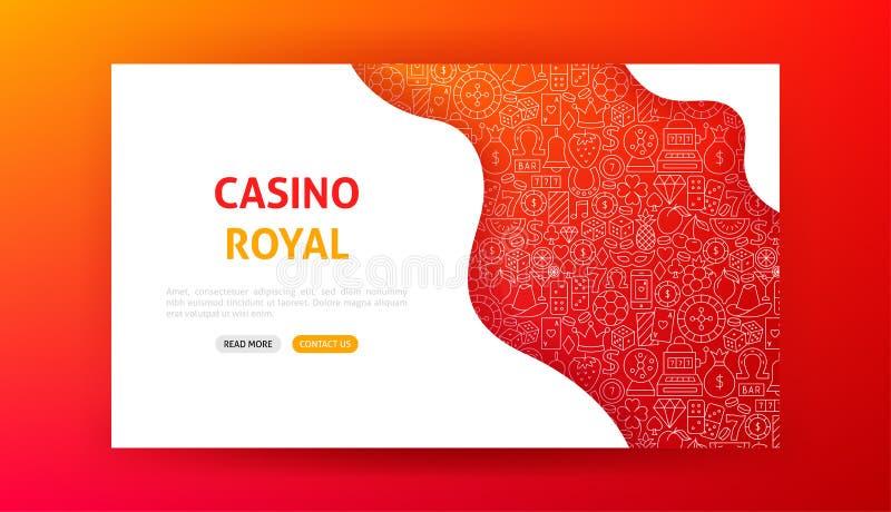 Casino Royal Landing Page vector illustration