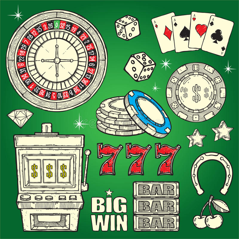 Download Casino Set stock vector. Image of background, machine - 27206863