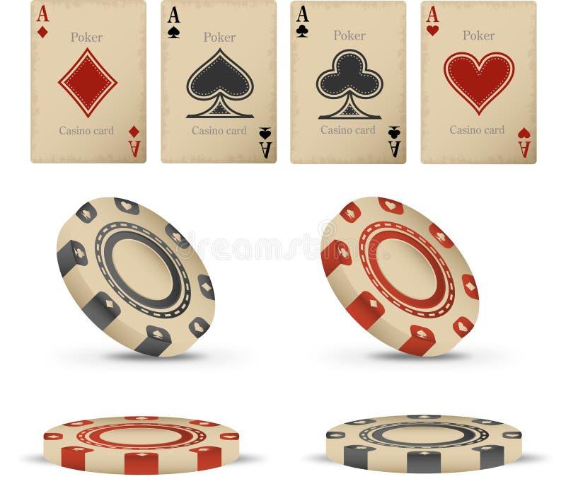 Casino set vector illustration