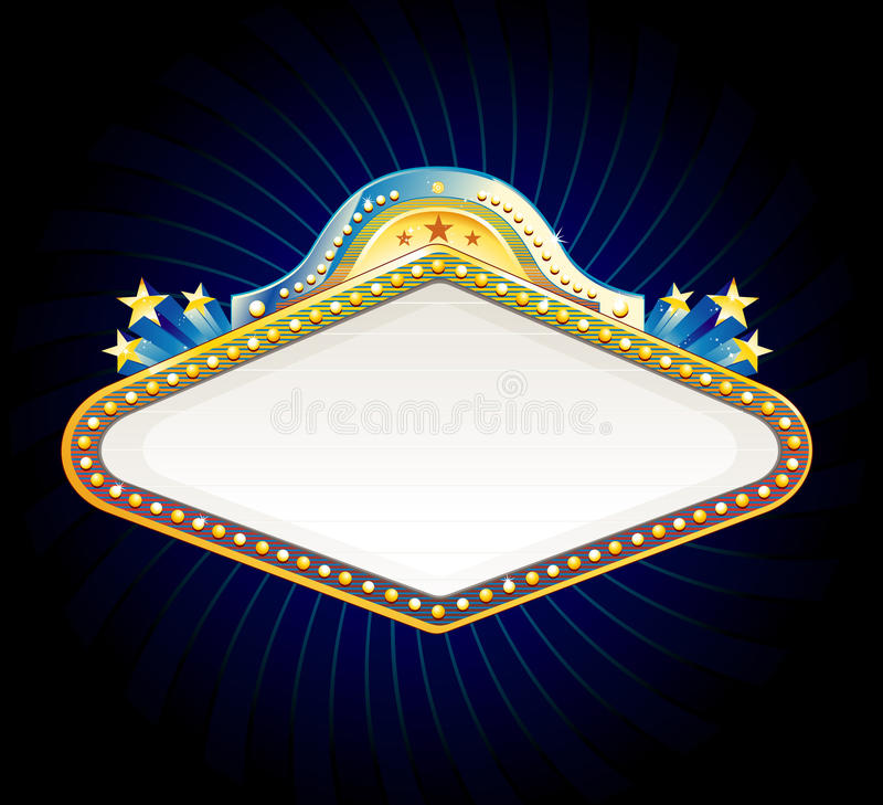 Casino sign stock illustration