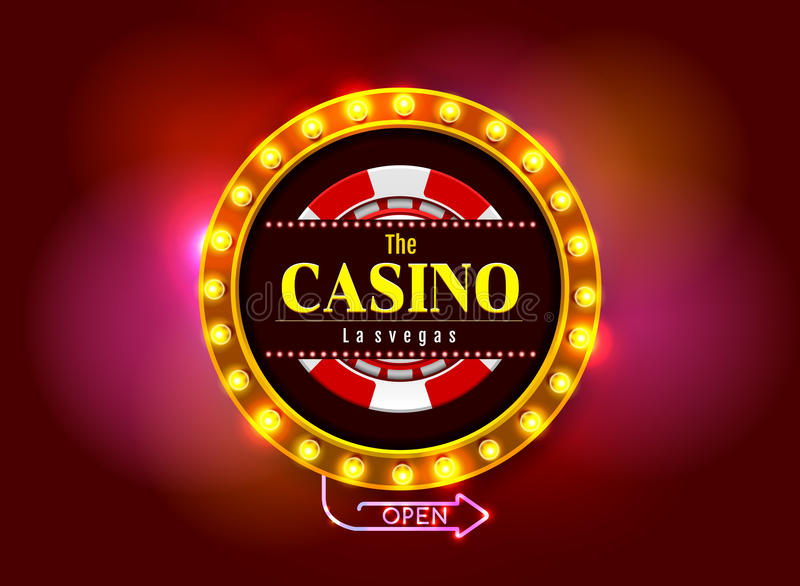 Casino sign vector illustration