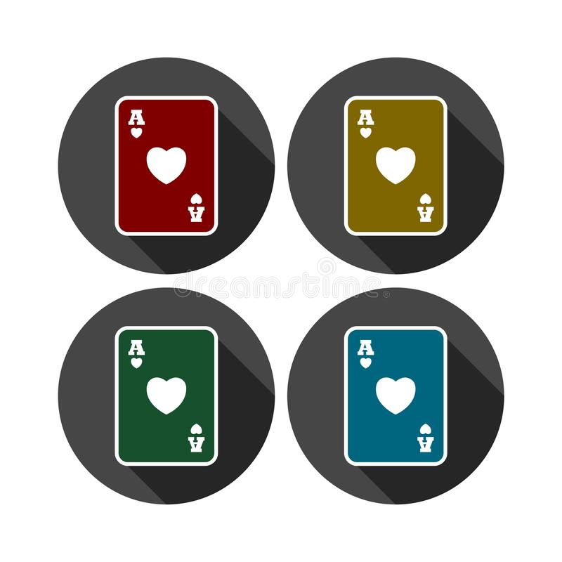 Casino sign icon. Playing card symbol. Vector icon royalty free illustration