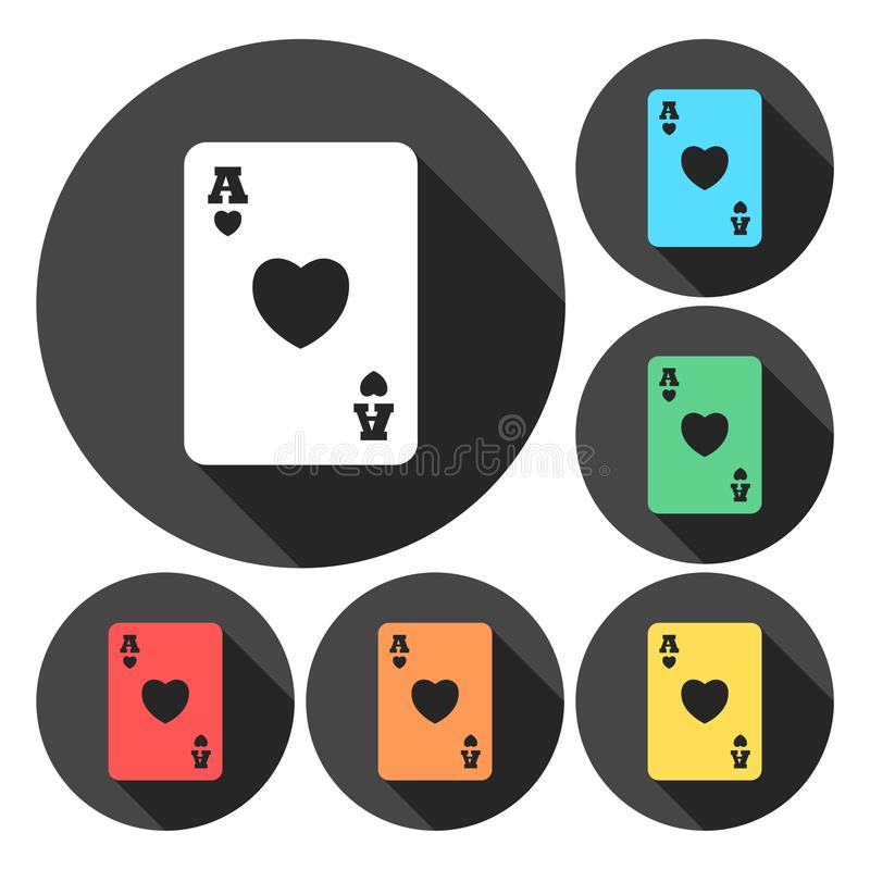 Casino sign icon. Playing card symbol. Vector icon vector illustration