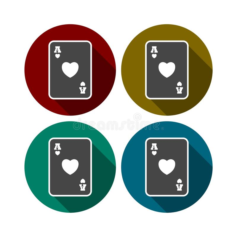 Casino sign icon. Playing card symbol. Vector icon stock illustration