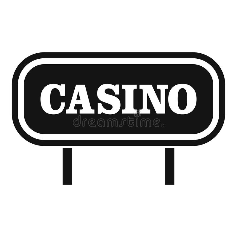 Casino sign icon, simple style. Casino sign icon. Simple illustration of casino sign vector icon for web vector illustration