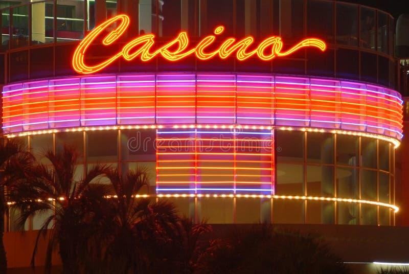 Casino sign at night stock photo