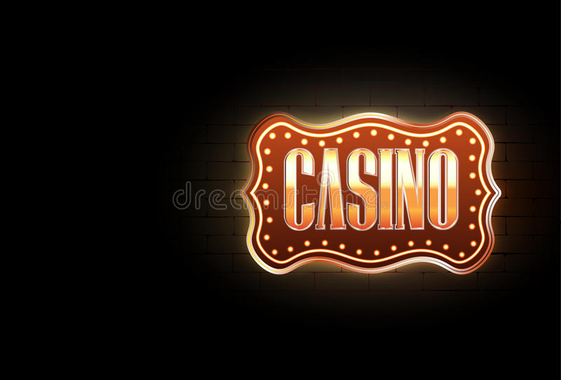 Casino sign royalty free illustration