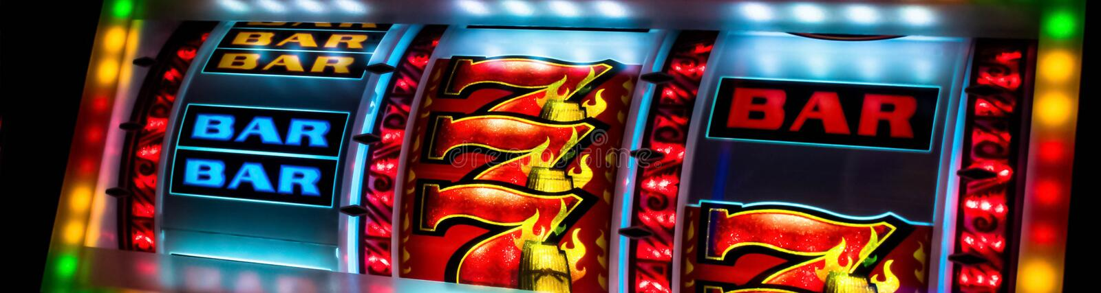 Casino slot machine display closeup. Colorful Casino slot machine display closeup , black background stock photos