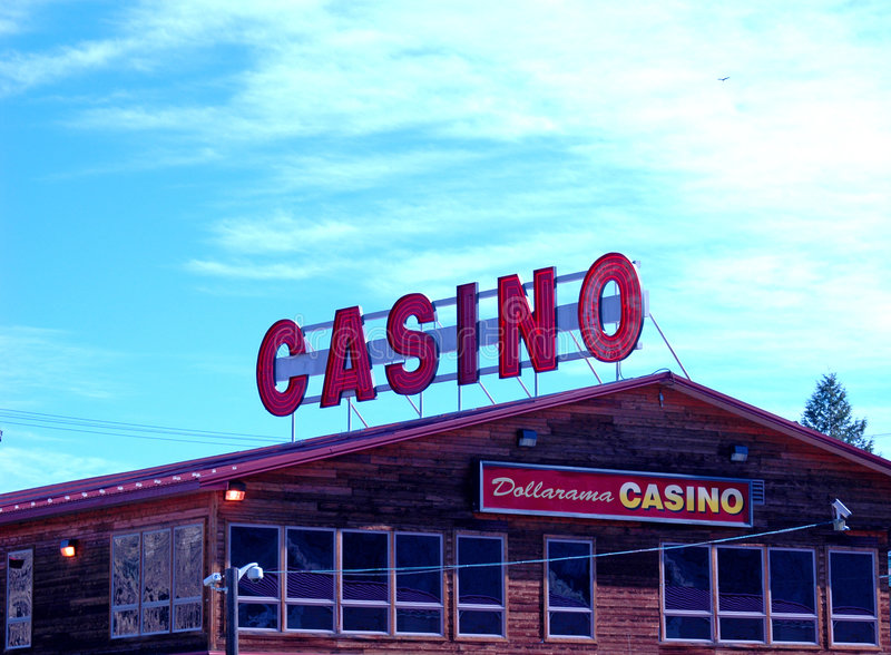 Casino sous un grand ciel photos libres de droits