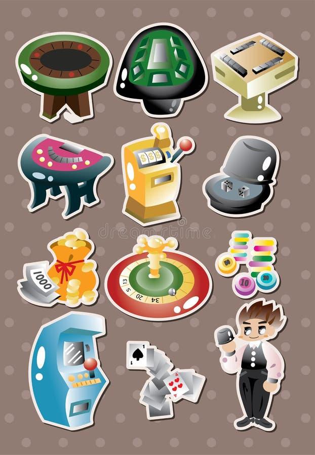 Casino stickers stock illustration