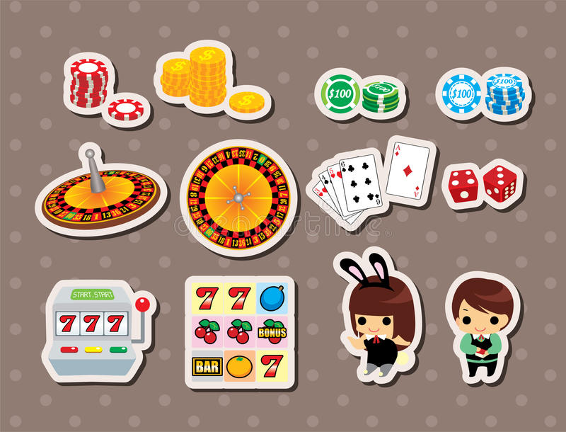 Casino Stickers Stock Image