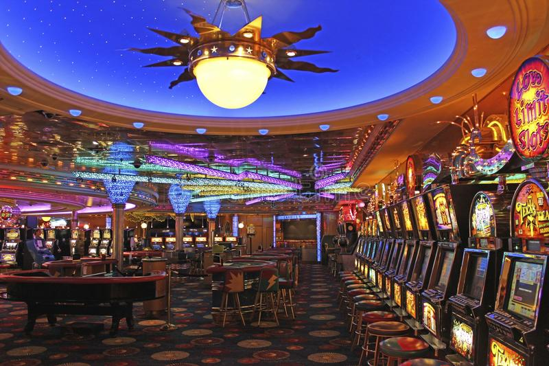 Casino sur le bateau photos stock