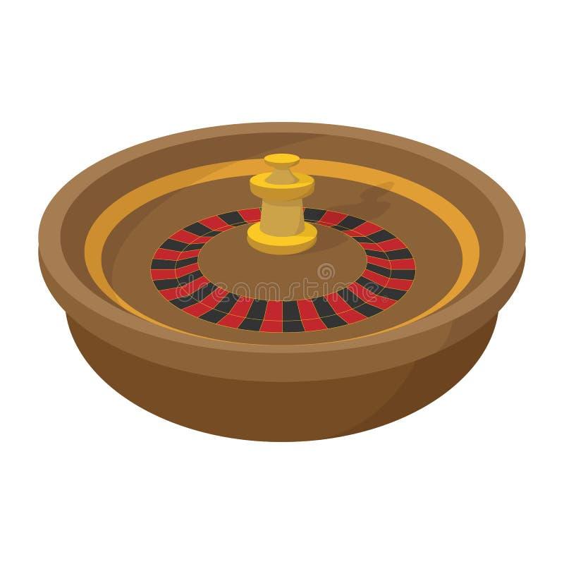 Casino symbol, roulette cartoon icon. On a white background stock illustration